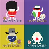 L'illustrazione felice dell'illustratore di vettore di pasqua eggs il concetto illustrazione di stock