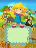 Il funfair - campo da giuoco - illustrazione per i bambini royalty illustrazione gratis