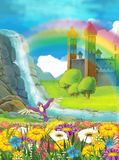 La principessa - bella illustrazione di manghe Immagine Stock Libera da Diritti