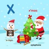 L'illustrazione ha isolato i X-x-raggi della lettera dell'alfabeto, xilofono, mas di x illustrazione vettoriale