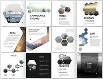 L'illustrazione minimalistic di vettore della disposizione editabile delle coperture quadrate del popolare della Bi di progettazi Immagini Stock