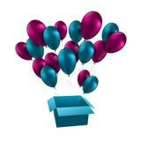 L'illustrazione per il buon compleanno balloons il vettore Immagini Stock Libere da Diritti