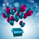 L'illustrazione per il buon compleanno balloons il vettore Immagine Stock