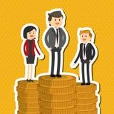 L'illustrazione piana circa le persone di affari progetta, vector il fumetto Immagini Stock Libere da Diritti