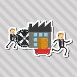 L'illustrazione piana circa le persone di affari progetta, vector il fumetto Fotografie Stock