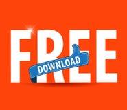 L'illustrazione piana moderna di tipografia di download gratuito con i pollici aumenta il segno royalty illustrazione gratis