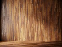 L'illustrazione rende l'interno naturale con i pannelli di parete di legno Immagine Stock