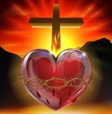 L'illustrazione sacra del cuore Fotografie Stock
