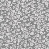 L'illustrazione senza cuciture dell'acquerello del modello, siluetta grigia riccia della clematide fiorisce su un fondo grigio sc royalty illustrazione gratis