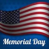 L'illustrazione su Memorial Day Illustrazione Vettoriale