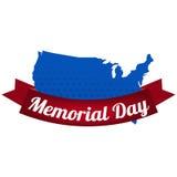 L'illustrazione su Memorial Day Immagini Stock Libere da Diritti