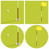 L'illustrazione sul tema di golf Immagini Stock Libere da Diritti
