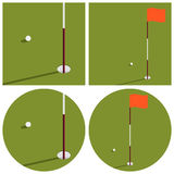 L'illustrazione sul tema di golf Fotografia Stock