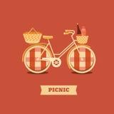 L'illustrazione va fare un picnic Fotografia Stock