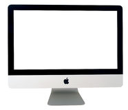 l'iMAC tard 2011 a isolé Images stock