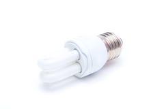 l'image élevée d'ampoule du fond 3d a isolé le blanc léger de résolution Photo libre de droits