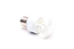 l'image élevée d'ampoule du fond 3d a isolé le blanc léger de résolution Photos libres de droits