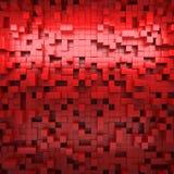 L'image abstraite des cubes modèlent le fond avec la perspective Photos stock