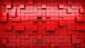 L'image abstraite des cubes modèlent le fond avec la perspective Photo stock