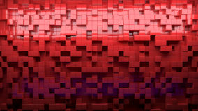 L'image abstraite des cubes modèlent le fond avec la perspective Images stock