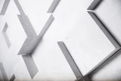 L'image abstraite du blanc cube le fond illustration libre de droits