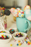 L'image avec le filtre chaud des sucreries et le bruit durcissent à la confiserie Photos stock