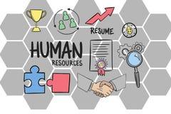 L'image composée de Digital des ressources humaines signent avec des icônes illustration de vecteur