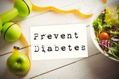 L'image composée de empêchent le diabète illustration stock