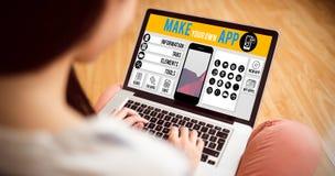 L'image composée de font votre propre smartphone d'APP Photographie stock