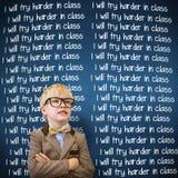 L'image composée de l'élève mignon s'est habillée comme professeur image libre de droits