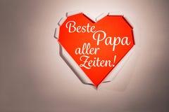 L'image composée de l'aller de papa de beste de mot zeiten Photo stock