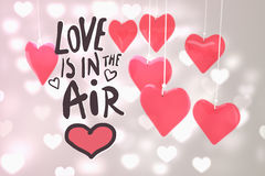L'image composée de l'amour est dans le ciel illustration stock