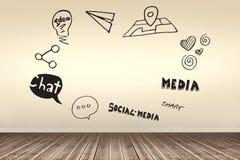L'image composée de l'image composée du media social diagram Image stock
