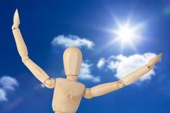 L'image composée de la fin de la figurine 3d avec des bras a écarté au loin Photos libres de droits
