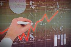 L'image composée des businessmans remettent l'écriture avec le marqueur illustration de vecteur