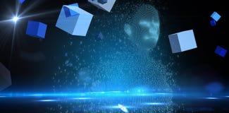 L'image composée digitalement du composé pixelated la femelle 3d Image stock
