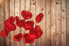 L'image composée du coeur monte en ballon 3d Photo libre de droits
