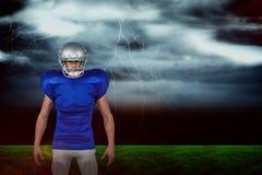 L'image composée du portrait des sports sûrs équipent la position photos libres de droits
