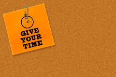 L'image composée de donnent votre temps Images libres de droits