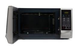 l'image concise de conception de backgrpund a isolé le blanc simple reconnaissable de four à micro-ondes Photographie stock libre de droits