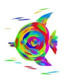 L'image d'un ange lumineux de poissons d'arc-en-ciel photographie stock