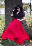 L'image d'une sorcière pour Halloween photo libre de droits