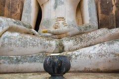 L'image de Bouddha dans le temple de Wat Sri Chum chez Sukhothai historique Photographie stock libre de droits