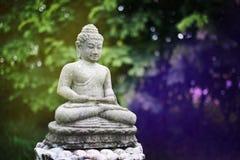 L'image de Bouddha a fait de la pierre avec des effets de couleur photos stock