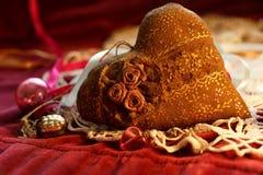 l'image de coeur du cadeau 3d a isolé Images stock