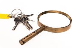L'image de concept de l'des clés autoguident l'inspection Photo stock