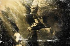 L'image de cru d'une religion triste d'ange, foi, la mort, ressuscitent image stock