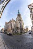 L'image de Fisheye de l'église de St Mary dans le ¼ de MÃ hlhausen photographie stock