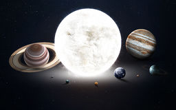 L'image de haute résolution présente des planètes du système solaire Éléments de cette image meublés par la NASA image libre de droits