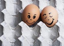 L'image de l'amour eggs des couples Photographie stock libre de droits